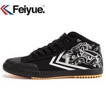 17fcf4b24fdd03 Feiyue new High Black shoes Kungfu Retro Martial Arts Shoes women men  sneakers(China)