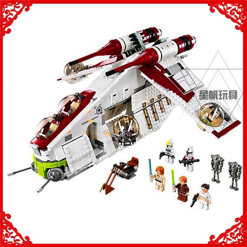 LEPIN 05041 Star Wars The Republic Gunship Building Block Compatible Legoe 1175Pcs   Toys For Children цена