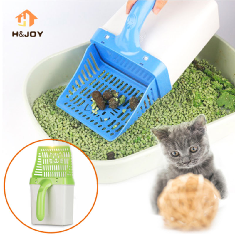 Litter Scoop for Animal Lovers Ergonomic Handle with Hanging Hole Lightweight Prevents Hand Fatigue Easy to Clean Spill and Stain-Resistant Plastic Pet Poop Shovel