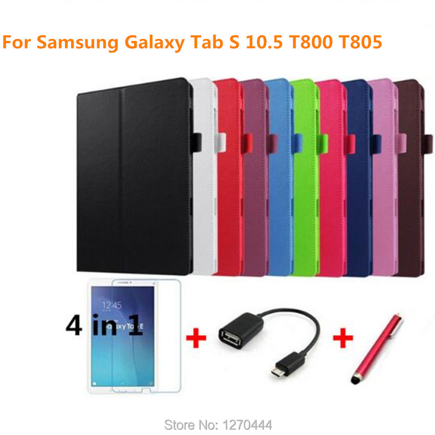 For Samsung Tab S 10.5 Litchi skin Leather stand protective cases cover Samsung Galaxy Tab s 10.5 T800 T801 T805 Tablets cover