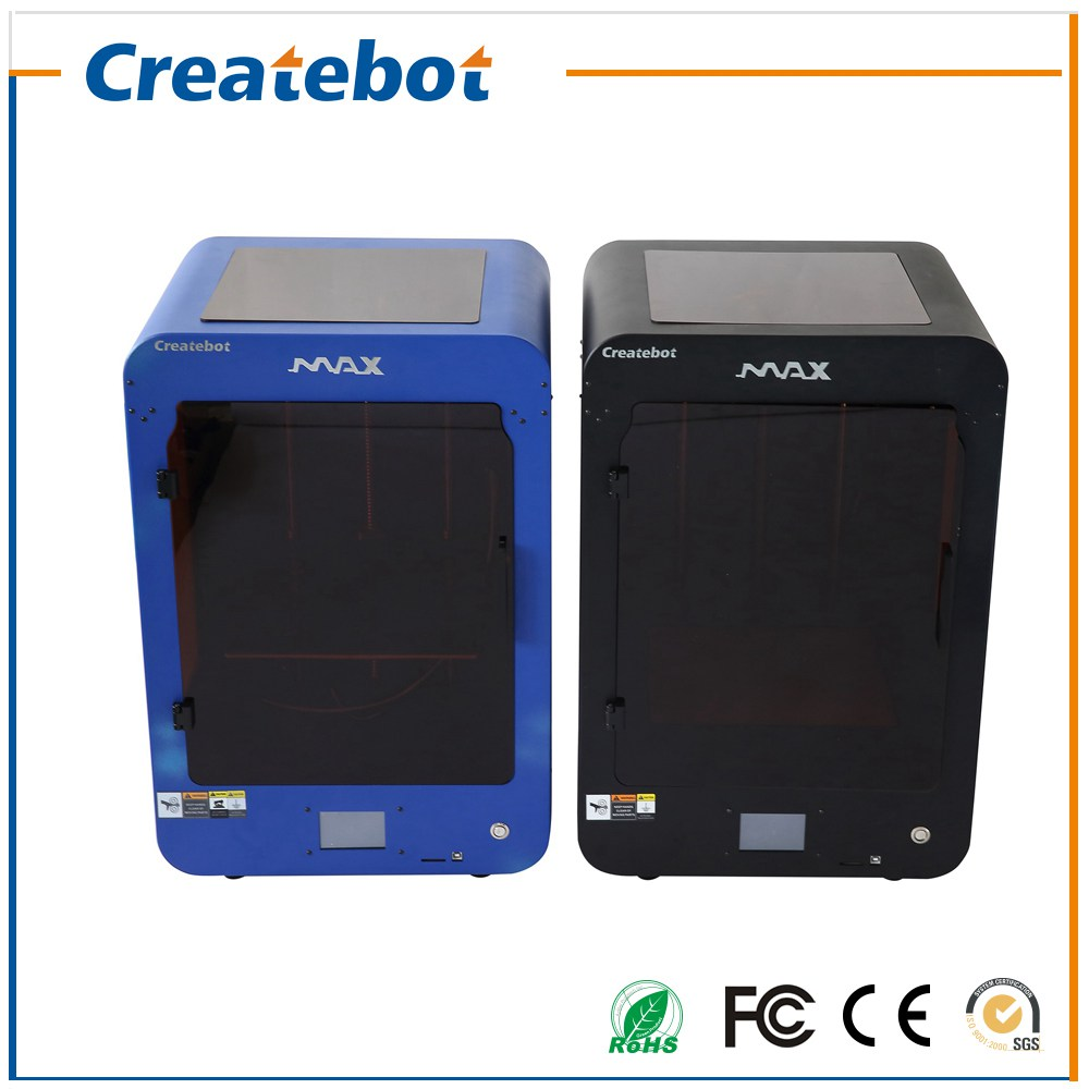 New Createbot Max Printer Touch Screen single Extruder Semi-Auto Leveling Full Metal 3D Printer Kit Include All 3D Printer Parts
