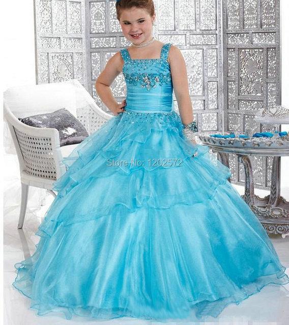 Niña Vestido En Vestidos Bola Primera Flores Capas Comunion De Niños 2015 ggU4rw0cqd