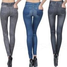 Leggings Jeans Denim Pants with Pocket Slim Jeggings Fitness Woman Sexy High Waist Jeans Slim Leggings Stretchy
