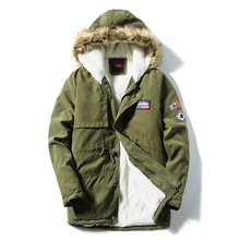 Warm Fur Collar Hooded Parka Multi Colors