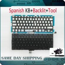 "OEM NEW for Macbook Pro 13"" Unibody A1278 Keyboard Spanish Spain SP Language + Backlight Backlit + Screws 2009 2012 Year"