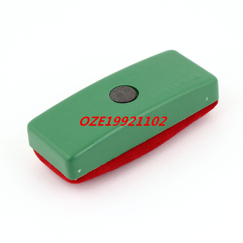 1PCS Green Red Magnetic Chalk Blackboard Velvet Cleaning Eraser Wipe Cleaner