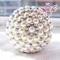 Ramos De Novia High Quality Gorgeous Pearl Bridal Bouquet Crystal Ball-Flower Wedding Bouquets Wedding Decoration Mariage