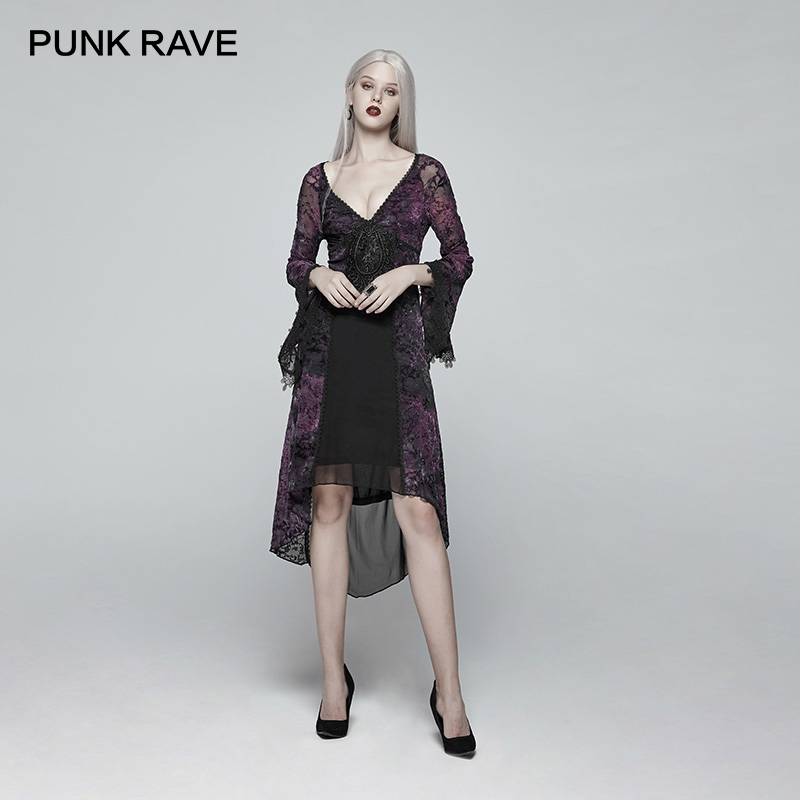Steampunk Women Lace Shirts Sexy Halter Bandage T Shirts Transparent Long Sleeve Black Slim T shirt