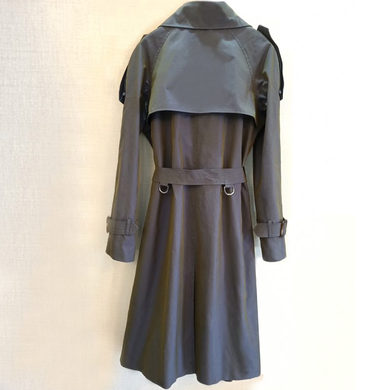 CHAOJUE 2018 printemps/automne femmes dernier changement de couleur Trench manteau Europe mode dame bureau Long manteau Trench femme pardessus - 2