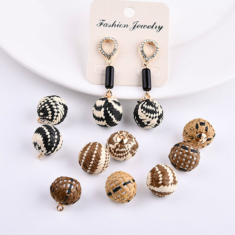 Han Chao Chao Woven Weave DIY Beads Earrings Earrings, Hand Accessories Accessories, Pendant Materials