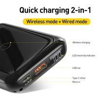 NEW! 2 in 1 PowerBank (Wired & Wireless) – 10000mAh USB PD Quick Charge 3.0 + 10W QI Wireless Charger 8