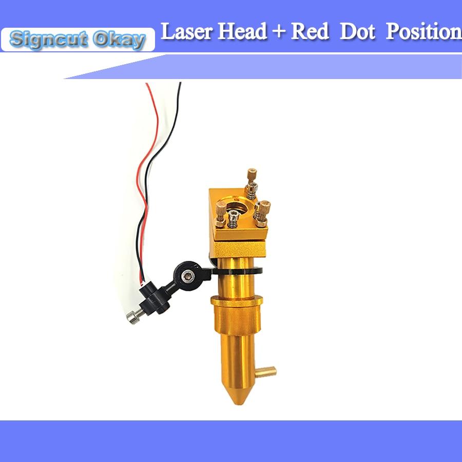Free Shipping Laser Head +Red Dot Position For Co2 Laser Engraver Machine DIY Laser Engraver Cutter Machine