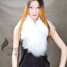 CX-S-88B женские зимние гарантии качества натуральный мех тибетской ламы шарф