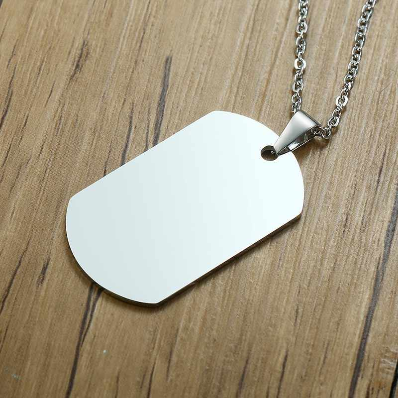 Memorial Dog Tag Men Necklace Custom Photo Name Army Nameplate Pendant Record Photo To My Son Persoanlized Jewelry