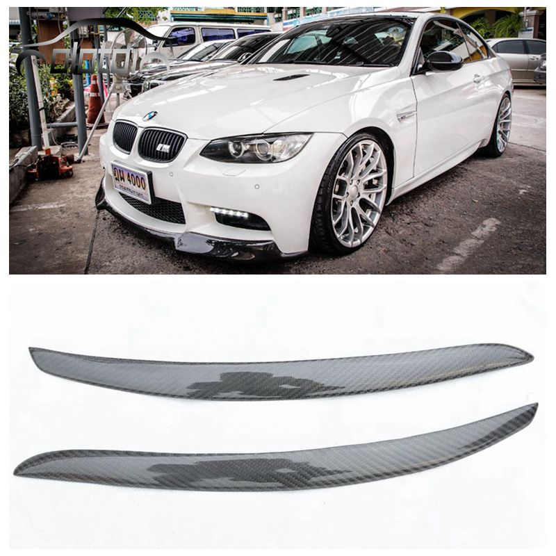OLOTDI Real Carbon Fiber Car Eyelid For BMW E92 3 series Front Headlamp Eyebrows car styling car accessories factory sales стоимость