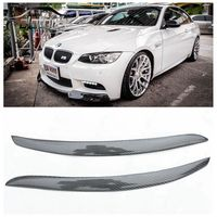 OLOTDI Real Carbon Fiber Car Eyelid For BMW E92 3 Series Front Headlamp Eyebrows Car Styling