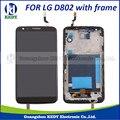 1 pcs para lg optimus g2 d802 d805 lcd f320 digitador da tela de toque com a montagem do quadro
