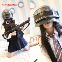 VEVEFHUANG Hot Game Playerunknown's Battlegrounds Creative Real Helmet Cosplay Accessories For Halloween