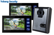 Yobang Security freeship 7 inch Home  doorbell video intercom Families Apartments video door phone Night Vision Camera Monitor