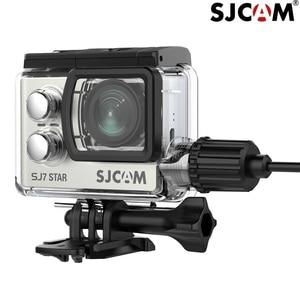 Image 2 - SJCAM אופנוע אביזרי מקרה עמיד למים עבור SJCAM SJ7 כוכב טעינת מעטפת מטען מקורי מקרה מצלמה SJ7 SJCAM דגי ליצן