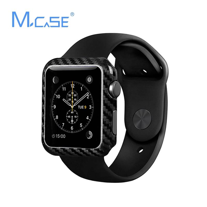 Mcase Nový přírůstek pro Apple Watch Case Carbon Fiber Cover 42mm38mm Luxury Ultra Thin Original Carbon Fiber Cover pro iWatch Case