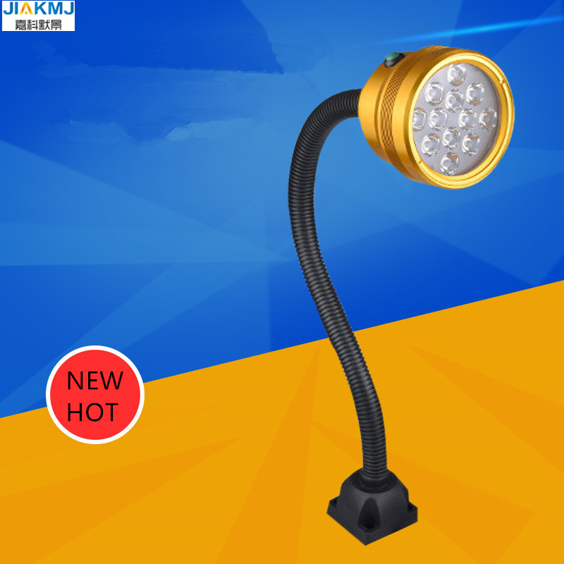 2018 New 12W LED Gooseneck WORKlights For CNC And Other Machines And Applications Waterproof Oilproof For lathe milling machines music and machines