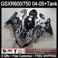 Black CORONA Tank For SUZUKI GSXR600 04 05 GSXR 600 04 05 8 231 GSX R600