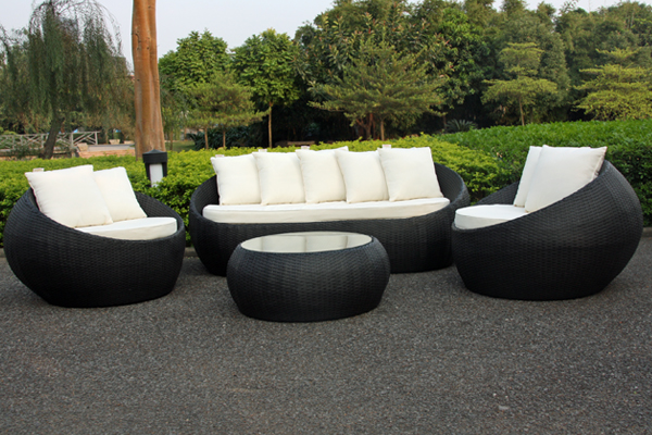 US $759.05 5% OFF|2017 Trade Assurance New arrival pe rattan led big round  shaped outdoor rattan furniture-in Garden Sofas from Furniture on ...