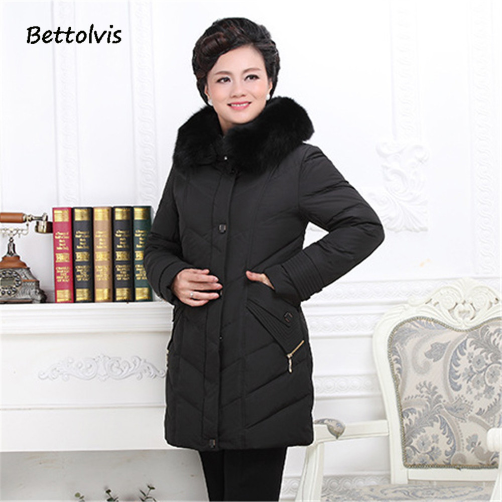 2019 New winter jacket plus-size big size 8xl 9xl   down   jacket women fur   coats   middle age plus size warm jacket Collection