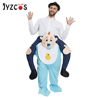 JYZCOS Ride on Baby Costume Carry Mascot Costume Halloween Purim Party Fancy Pants Costume