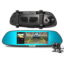 Dash Cam Car DVR Full HD 1080P 7.0 Inch IPS Touch Video Recorder Camera Dual Lens Rear View Camera Auto Registrator Accessories topsource car dvr dual lens camera registrator 7 inch ips screen hd 1080p car recorder dash camera night vision with rear camera