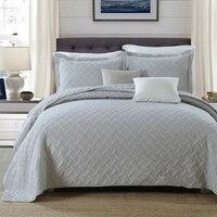 CHAUSUB серое однотонное качественное одеяло комплект из 3 предметов хлопковое бельё покрывала, простыни одеяло ed Двухспальное постельное бел