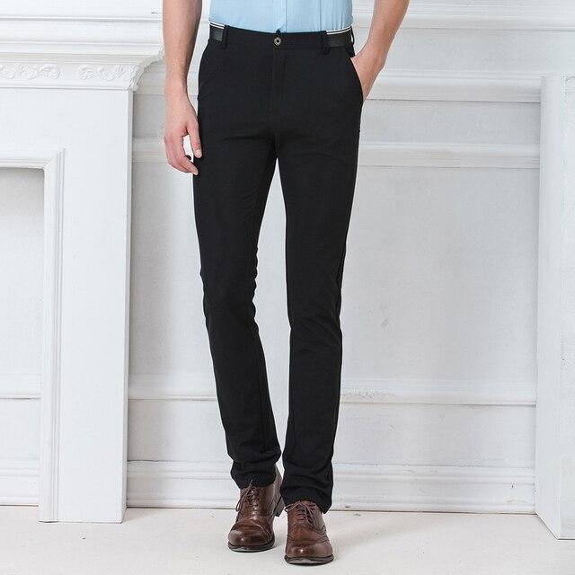 Spring Autumn Fashion slim fit Casual Pants Men Straight Trousers Dress Men Elastic Business Suit skinny Pants For Man 1