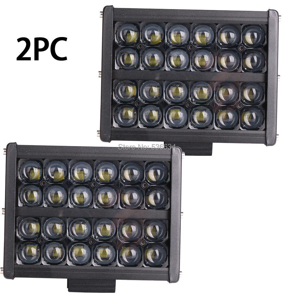 2PC 72W Square LED Work Lights Driving Off Road for for Truck 4x4 Tractor Heavy Duty UTV ATV Boat