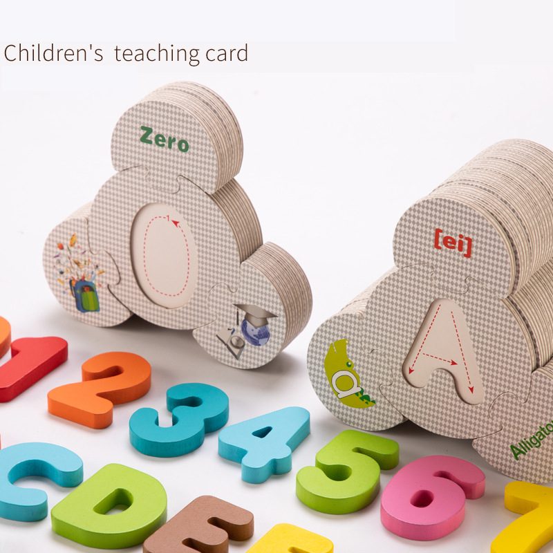 Children Large Matching Puzzle Games Early Learning Card Numbers/Letters Jigsaw Puzzle Toys for Children Educational Toys Gift