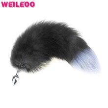 Small mini размер серый кот хвост анальный плагин хвост лисий хвост butt plug анальные игрушки гей секс-игрушки для пар buttplug анальный игрушка