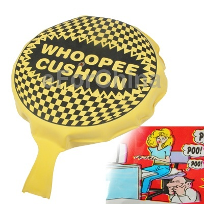 Self Inflating Whoopee Cushion Fart Sound Bag Funny Toy ,free shipping