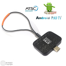 KOQIT FTA Digital Analog Micro USB OTG Terrestrial ATSC TV Dongle Receiver Watch OTA Live Channel TV On Android Phone Pad Tablet