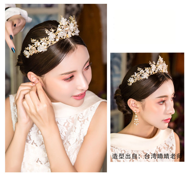 Tiara de Ouro Borboleta Floral Acessórios Para
