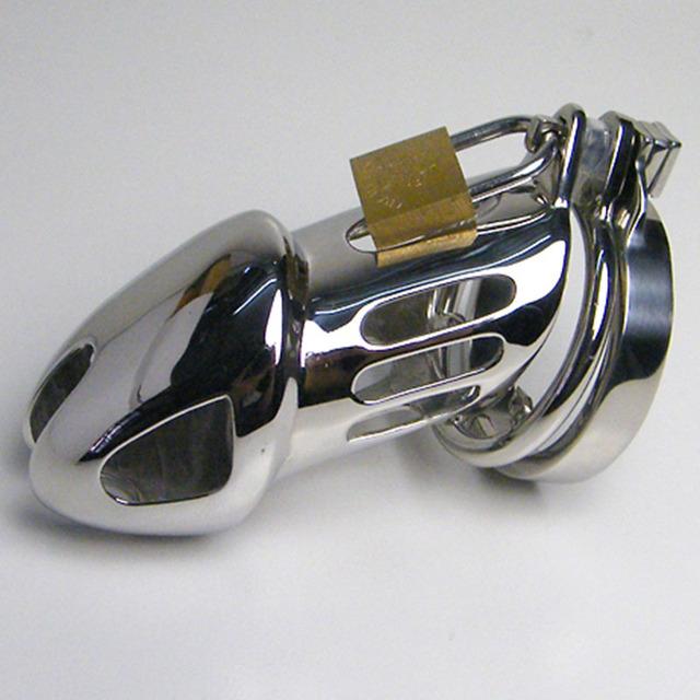 Aço inoxidável Anel Duplo gaiola Pênis Masculino Chastity Gaiola caralho dispositivo com Farpado Anti-Derramamento Anel Cinto de Castidade Sexo brinquedos