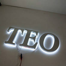 yangyu warm white backlit led mirror stainless steel illuminated channel letter Sign