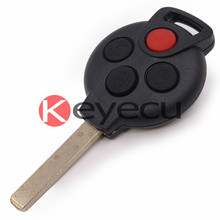 New Uncut Remote key Shell Case Fob 4B for SMART Fortwo 450 Forfour 451 Roadstar
