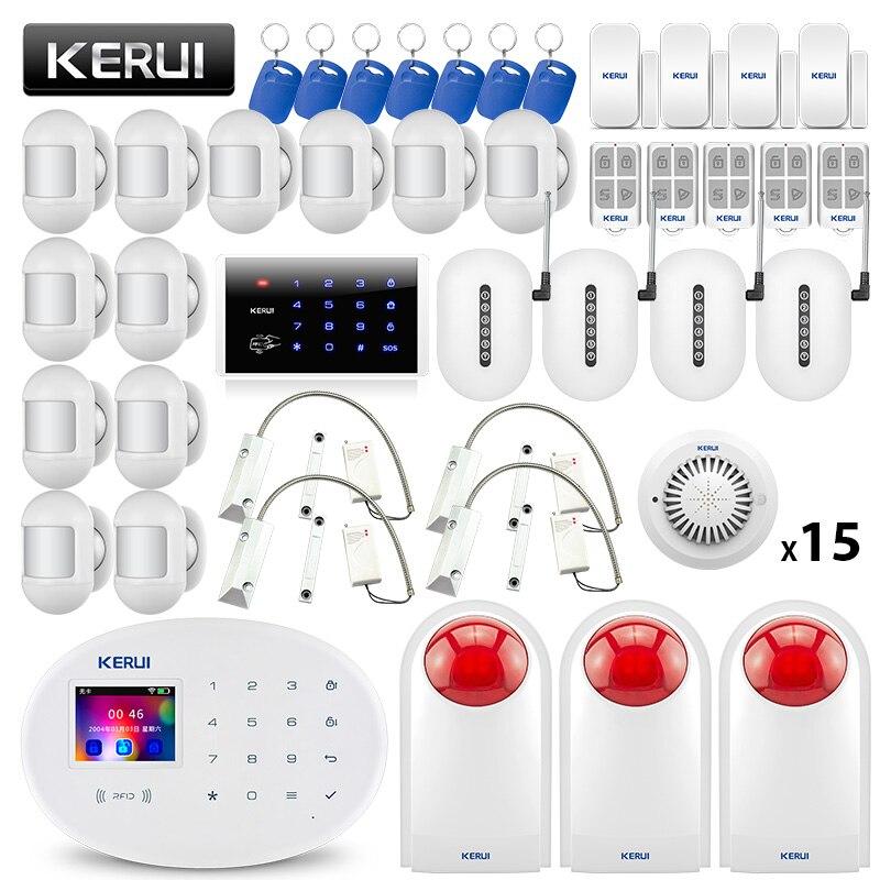 KERUI W20 système d'alarme de sécurité sans fil maison intelligente WIFI GSM