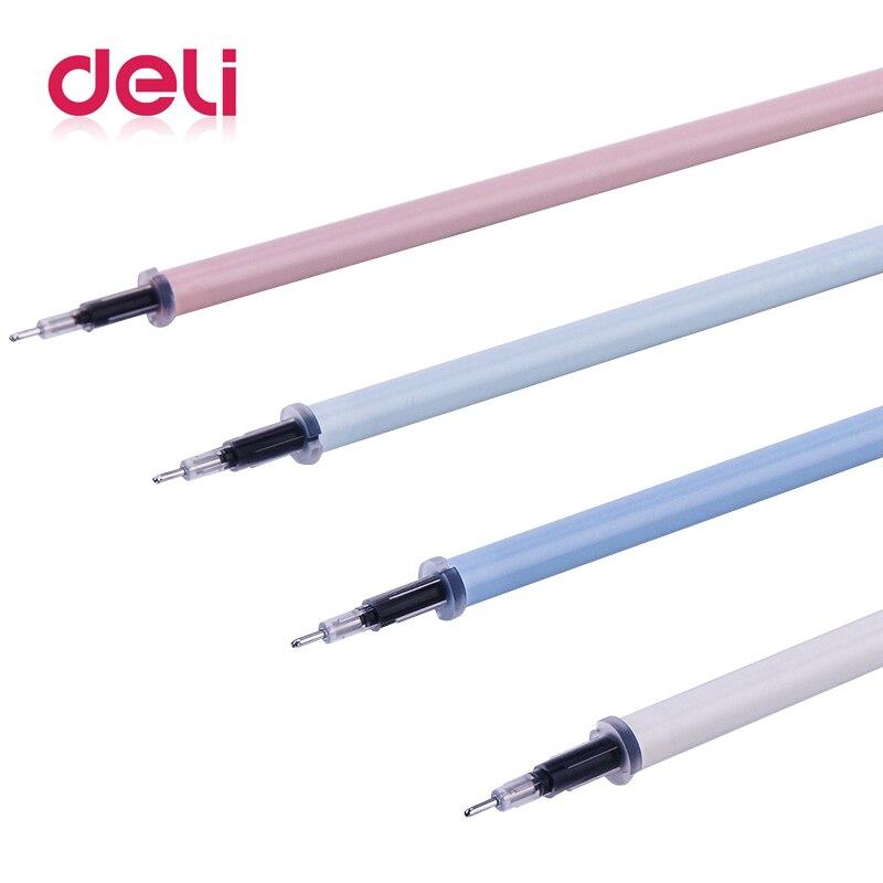 Deli 1pc gel pen refill 0.5mm Full needle black Signature cartoon Office School Supplies Refill