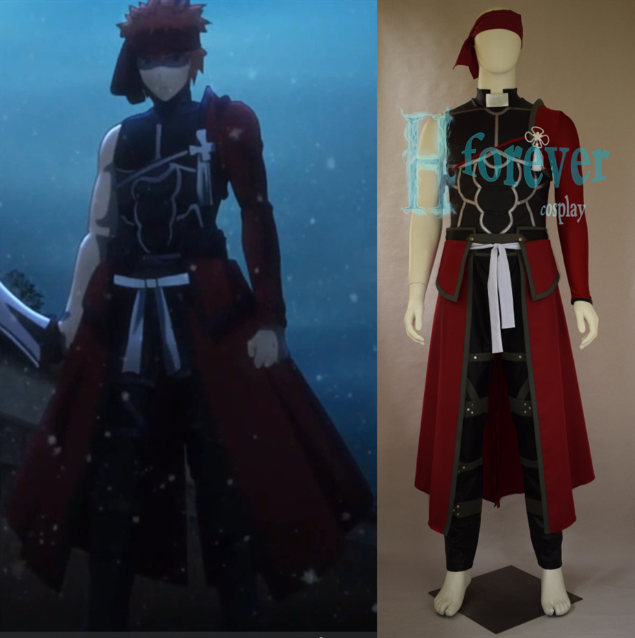 Anime Fate/Stay night Red A Archer Emiya Shirou Battle Uniform Suit Cosplay Costume Any Size For Halloween Free Shipping NEW