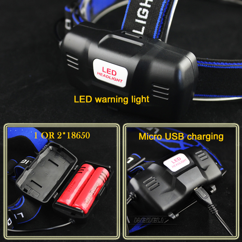 IR sensing zoomable led headlamp cree xml t6 xm l2 USB flashlight forehead head torch 18650 rechargeable battery headlight