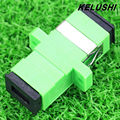 KELUSHI 10 pcs SC-SC Single/multi Modo Simplex Flange Acoplador SC/APC Adaptador Acoplador De Fibra para Comunicações Digitais