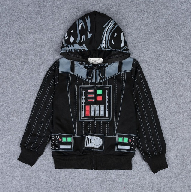 2016 Star Wars Hoodies boys Darth jackets Spring Long Sleeve kids coats Cartoon Stars War Outwear E395