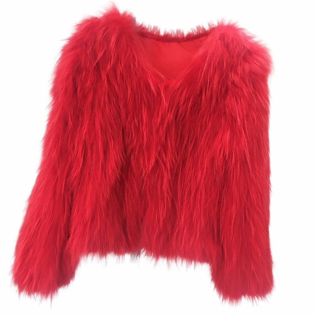 Vestes Véritable Manteau Naturel Pour Femme Laveur Taille Fei Raton Grande Rouge Tricoté Yin Les Fourrure De Femmes pngxFw4Xq