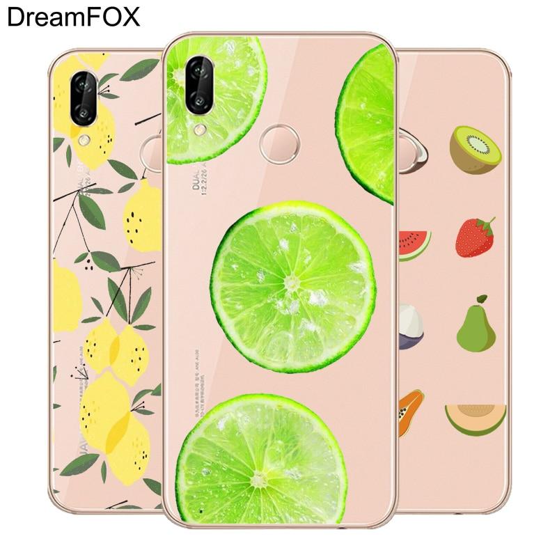 DREAMFOX L080 довольно Плоды лимона шаблон ТПУ Мягкий силиконовый чехол для huawei Honor 6A 6C 7X9, 10 p20 Lite Pro P Smart